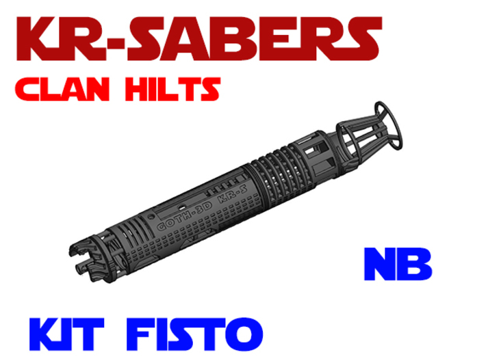 KR-S Clan Hilts - Kit Fisto - NB Chassis 3d printed