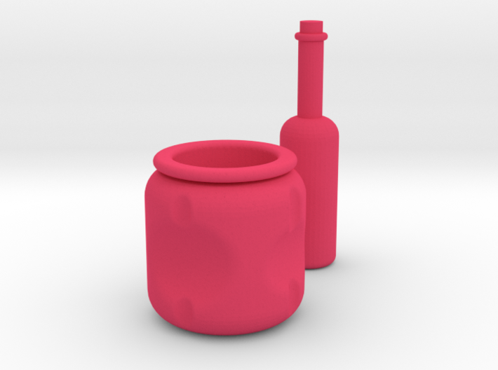 Pot and Bottle set 3d printed