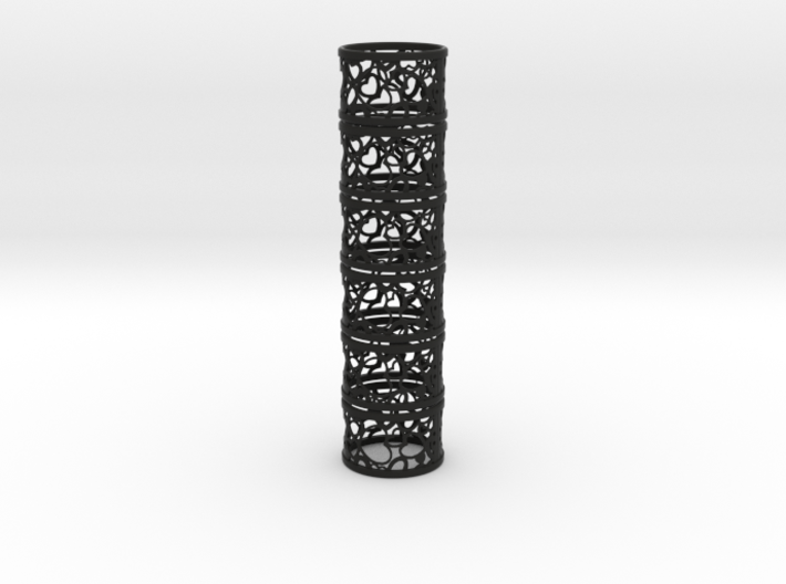 Set of 6 large napkin rings with Hearts 3d printed