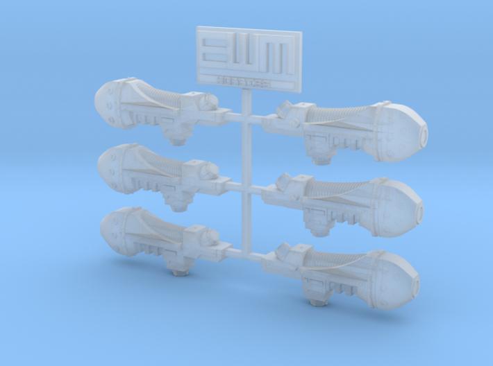 Archaic Plasma Gun x6 [Downsized - Non-heroic] 3d printed