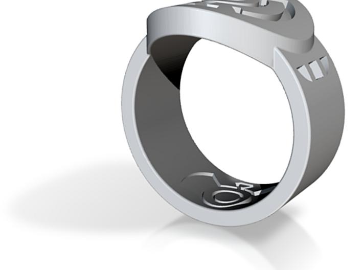 Blue Hope FF Ring Sz 11 3d printed