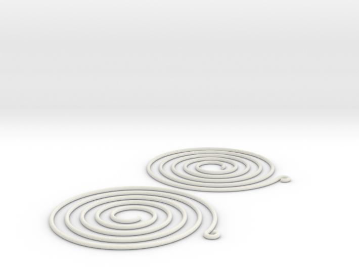 Earrings Spiral 001 3d printed