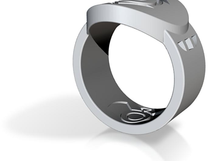 Indigo Tribe FF Ring Sz 10 3d printed Custom Enameled