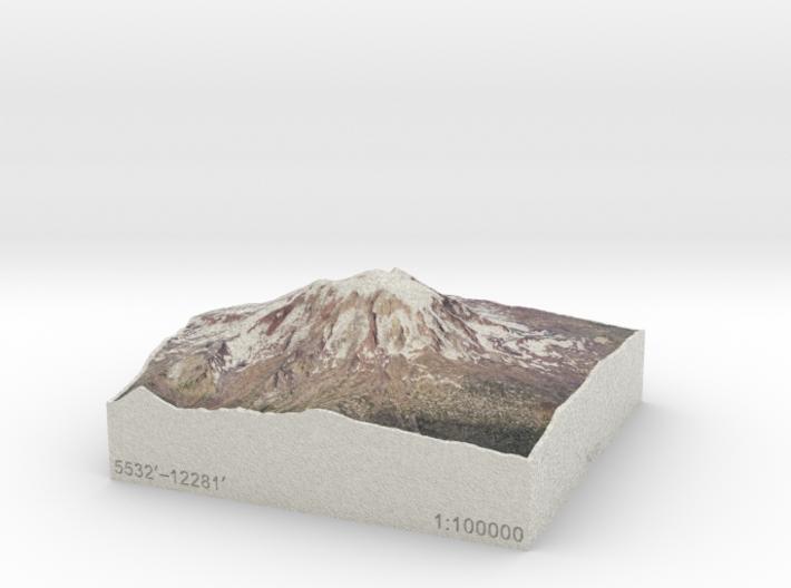 Mt. Adams, Washington, USA, 1:100000 Explorer 3d printed