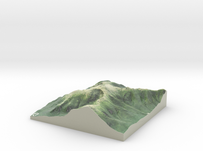 "Mount Washington Map: 6"" 3d printed"