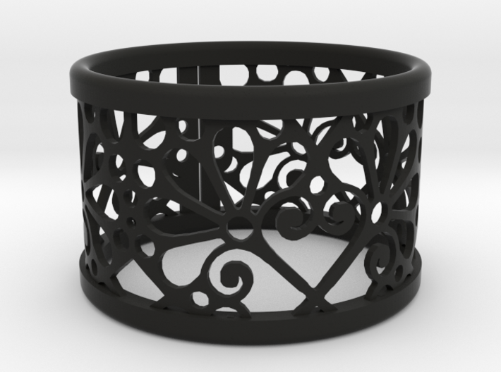 A large napkin ring with Mosaic-3b 3d printed