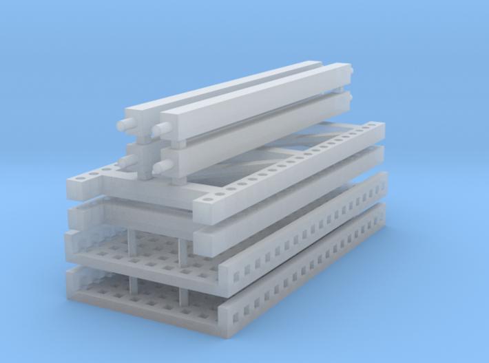 1/64 2 high 8ft PR mesh 3d printed