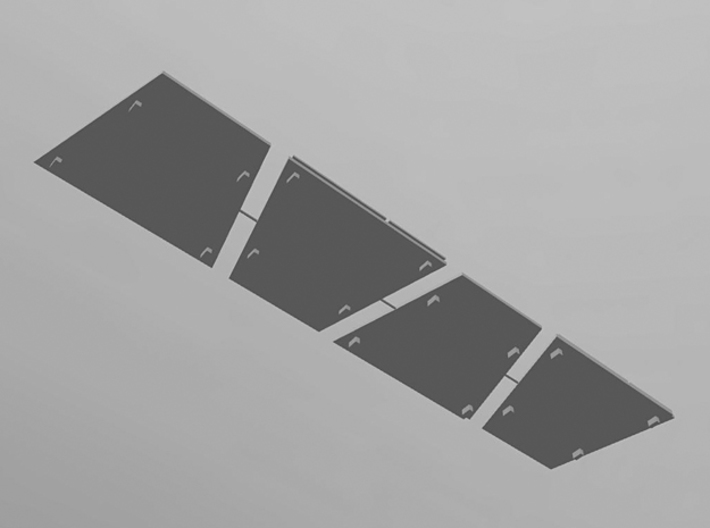 DeAgo Millennium Falcon Airlock side panels 3d printed Render of the 3D model, bottom view