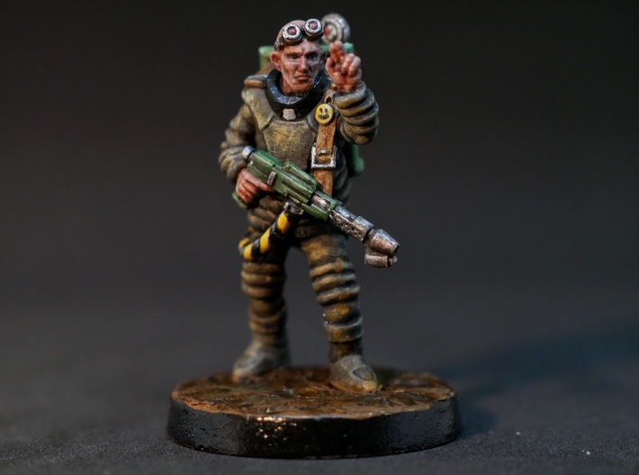 Father Otto - 28mm Sci-fi Wandering Zealot 3d printed