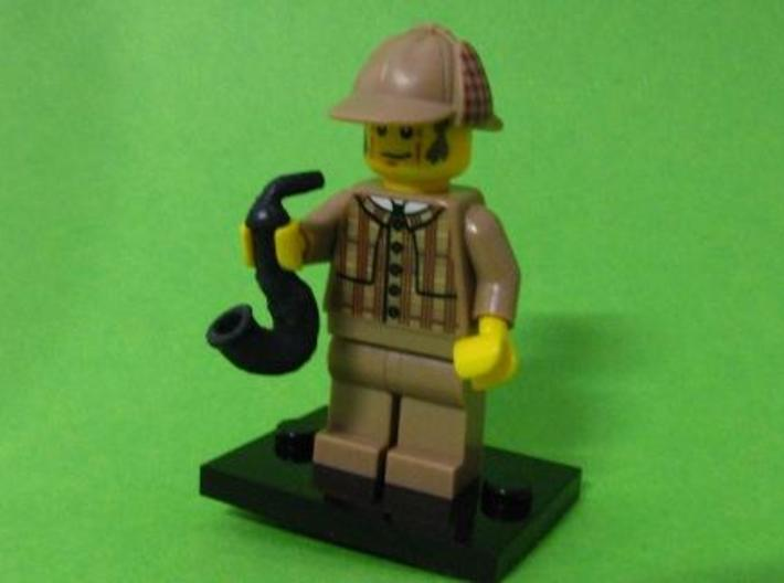 Smoking pipe for minifigures 3d printed Sherlock