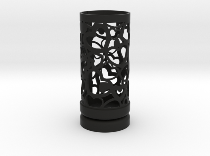 Filigree Gift roll small with Hearts (6 cm) 3d printed