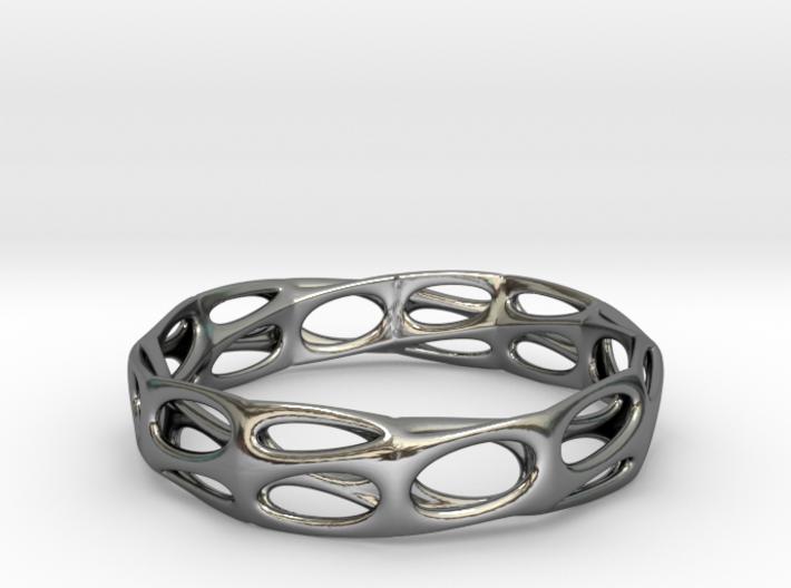 Mobius Band Voronoi Bracelet 65mm (001) 3d printed Mobius Band Voronoi Bracelet 65mm (001)