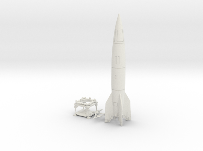 V-2 Rocket, Launch Platform and Dolly 1/30 scale 3d printed
