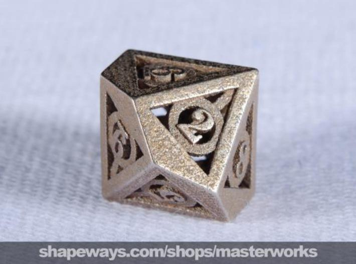 Deathly Hallows d10 3d printed Stainless Steel