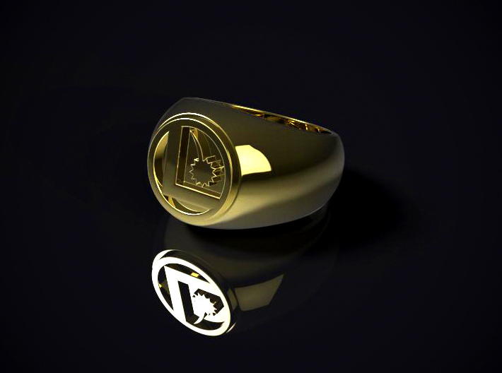 Legion Flight Ring 3d printed 3D render of the ring in Polished Brass