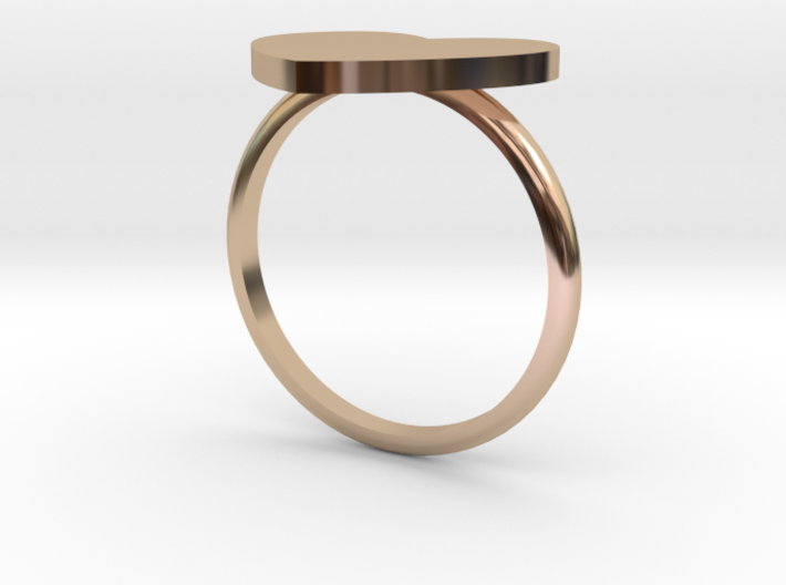 Thin Heart Ring  3d printed