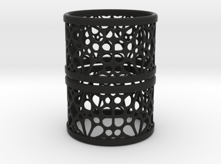 Set of 2 large napkin rings with Mosaic-3a 3d printed