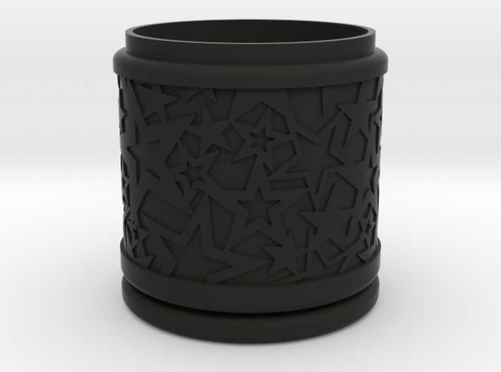Christmas Gift Box No. 116 with Stars (solid) 3d printed