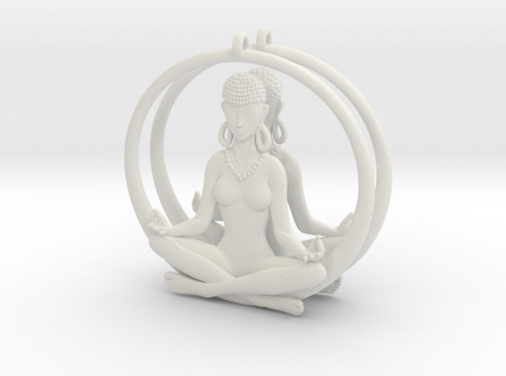 Sukhasana Yogini Earrings 4.5cm  3d printed