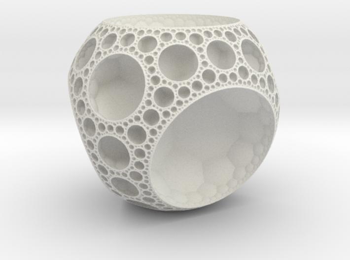 {7,3,3} Hyperbolic Honeycomb 3d printed
