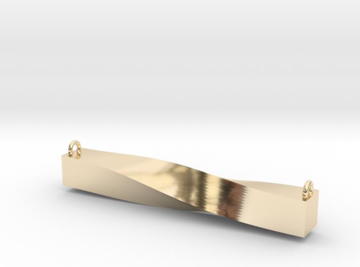 Twisted Bar Pendant 3d printed