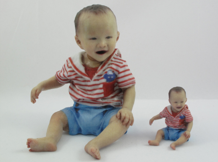 Scanned 7 month old Baby boy_110mm High 3d printed