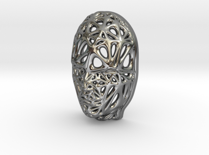 Miniature Female Voronoi Face 3d printed Miniature Female Voronoi Face