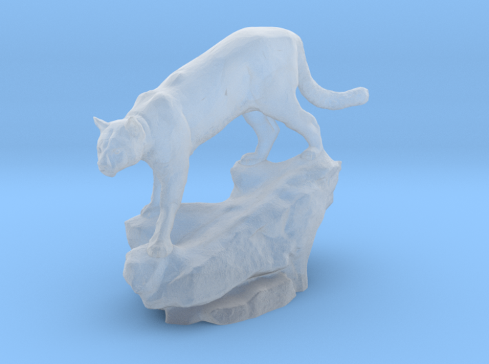 HO scale cougar 3d printed This is a render not a picture