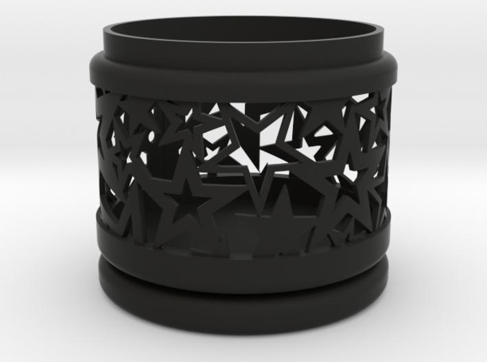 Gift Box No. 1 with Stars (filigree, short) 3d printed