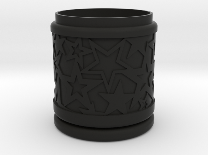 Gift Box No. 1 with Stars (solid, high) 3d printed