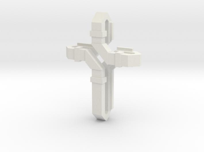 Flat Twist Cross 3d printed