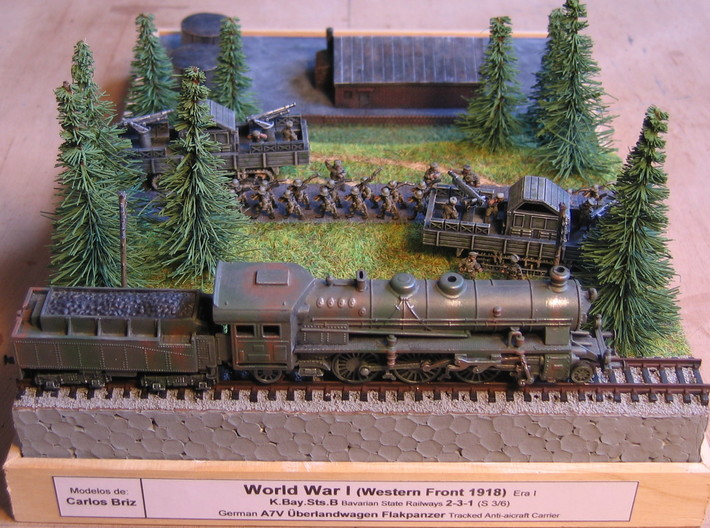 German WW I A7V Geschützwagen 1/144 3d printed Dio by Carlos Bris, Thanks a lot for sharing! Set consisting only the tanks!