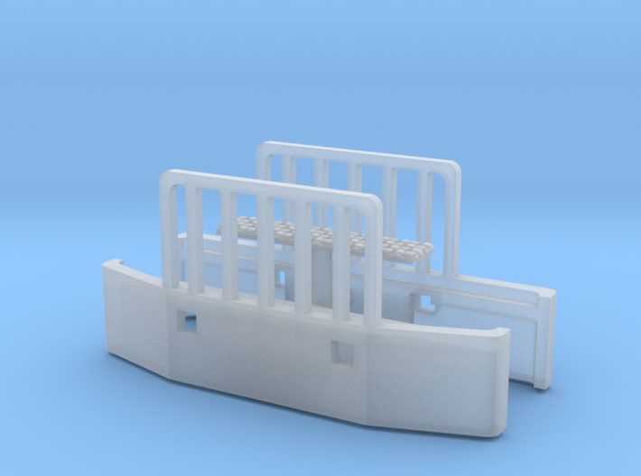 1/87th Holmes style push bumpers with rubber pad 3d printed