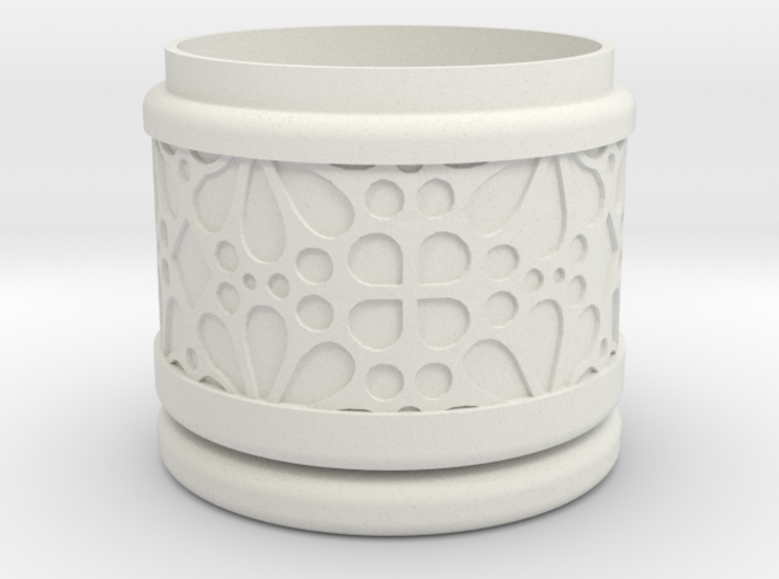 Gift Box round No. 1 with Mosaik-3 (solid, short) 3d printed