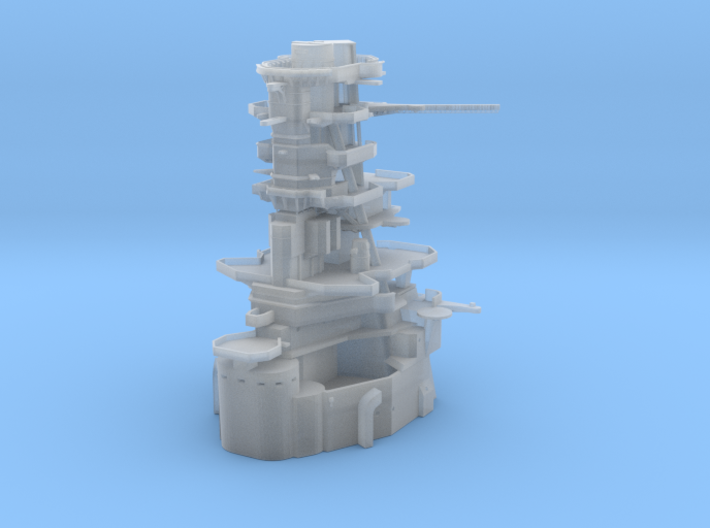 1/600 IJN Ise-Hyuga Bow Superstructure 3d printed