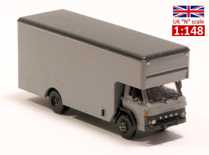 Ford D series moving truck UK N scale 3d printed