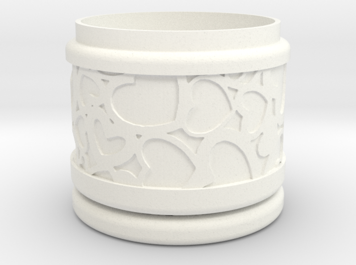 Gift Box No. 1 with Hearts (solid-filigree, short) 3d printed