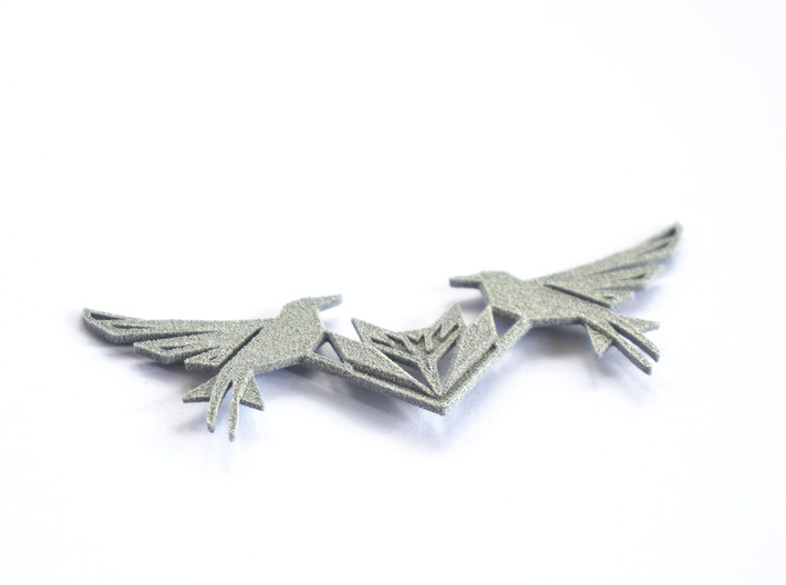 Swallow Collar Necklace 3d printed Swallow Collar Necklace (Small) printed in metallic plastic
