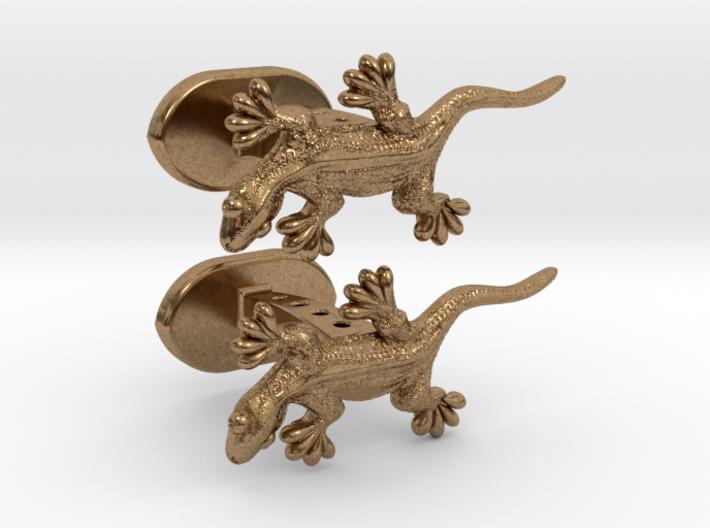 Gecko cufflinks 3d printed