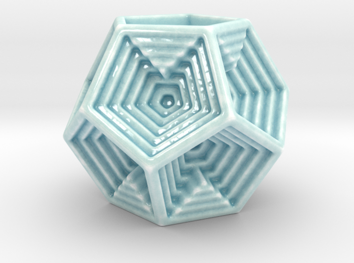 Dodecahedron Votive 3d printed