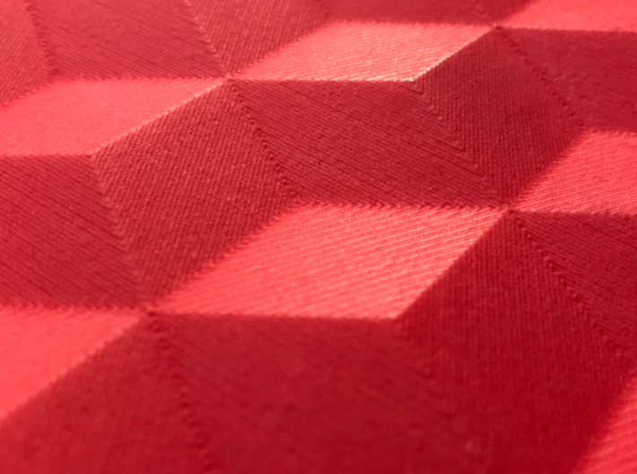 SqueezedBoxesRectangle 3d printed Close up red strong flexible