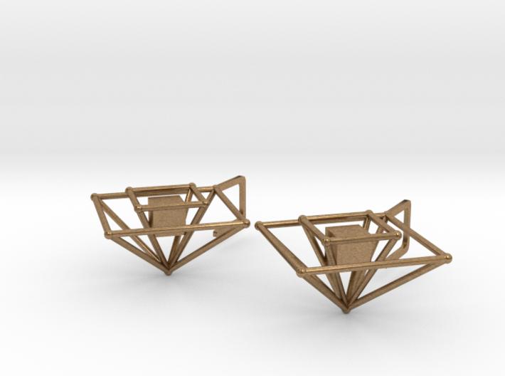Earrings cube (big) 3d printed