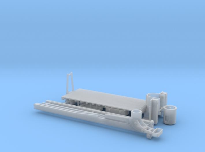 Manitex 35100c Metal Deck Crane Bed 1-87 HO Scale 3d printed