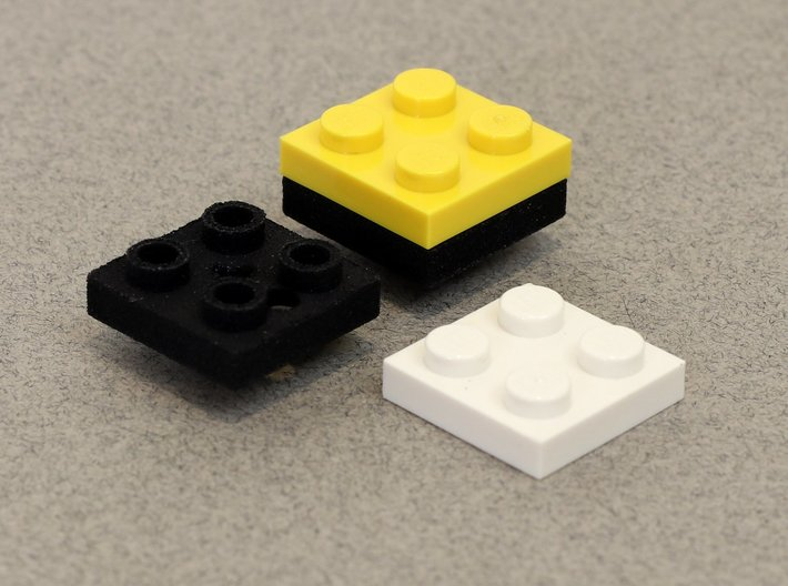 2x2 Set of 20: Building Block Cherry MX Key Caps 3d printed The basics