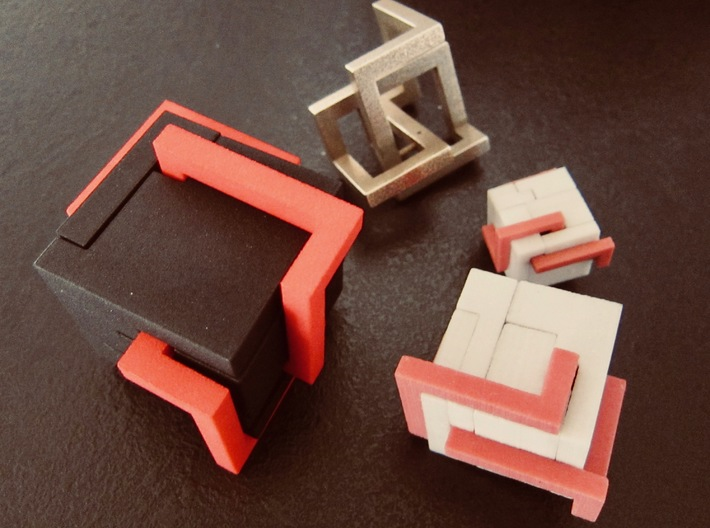 Puzzle mobius knot cube 3d printed