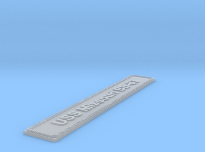 Nameplate: USS Missouri BB-63 3d printed