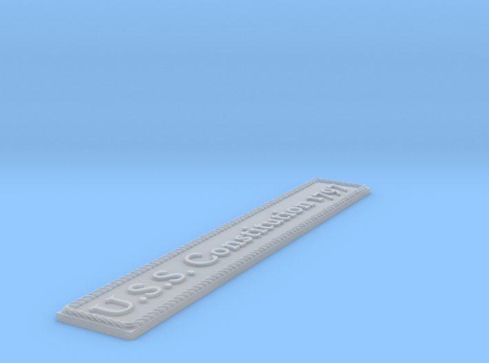 Nameplate: USS Constitution 1797 3d printed