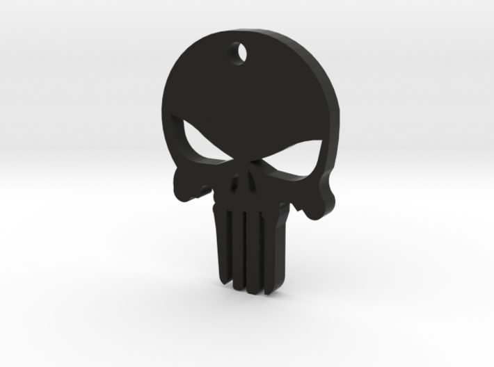 PUNISHER KEY CHAIN 3d printed