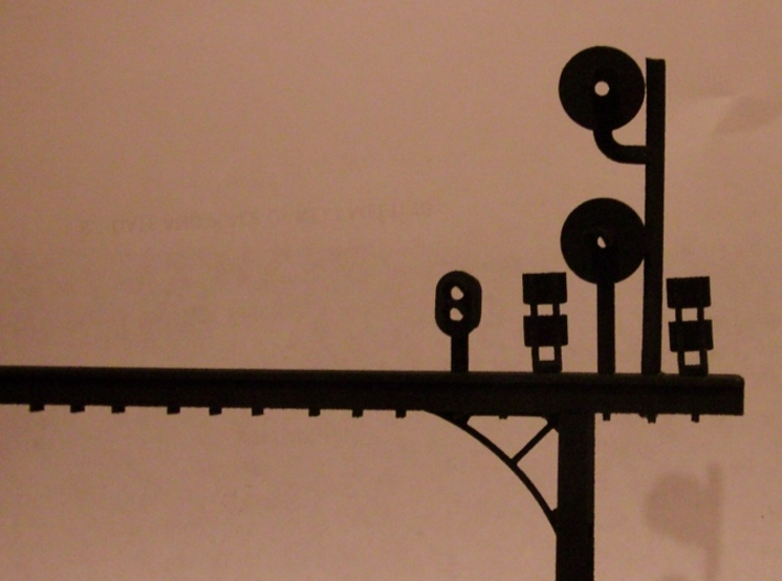 GWR Searchlight gantry/bracket kit 3d printed Gantry made from this kit with heads added