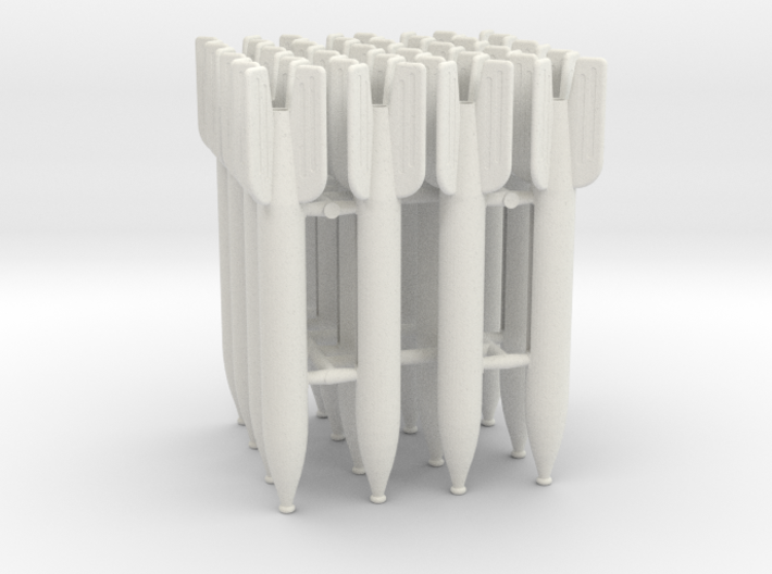 Set of 16 M-13 Rockets for Katyusha 1:24 scale 3d printed